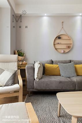 2018精选92平米三居客厅北欧装修设计效果图片大全三居北欧极简家装装修案例效果图