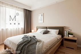 大气105平北欧三居卧室设计效果图三居北欧极简家装装修案例效果图