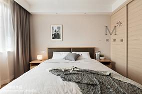 优雅85平北欧三居卧室装饰美图三居北欧极简家装装修案例效果图