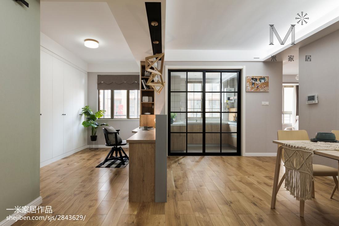 简单北欧风格三居书房设计图厨房1图北欧极简餐厅设计图片赏析
