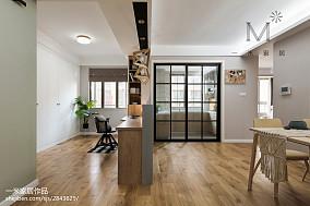 简单北欧风格三居书房设计图三居北欧极简家装装修案例效果图