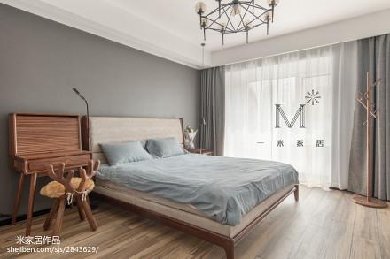 2018精选121平米四居卧室现代装修图片欣赏151-200m²四居及以上现代简约家装装修案例效果图