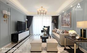 面积123平美式四居客厅装修欣赏图片客厅1图美式经典设计图片赏析