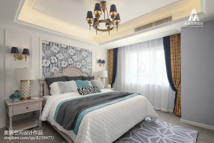 2018精选面积125平美式四居卧室效果图片卧室