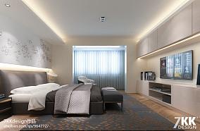 2018125平米現代別墅臥室裝修圖片大全