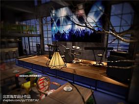 简美家装客厅灯具效果图