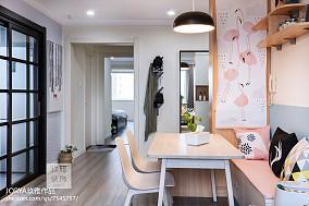 可爱北欧二居餐厅设计图片二居北欧极简家装装修案例效果图