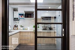 可爱北欧二居厨房设计图二居北欧极简家装装修案例效果图