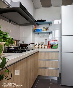 温馨55平北欧二居厨房设计效果图二居北欧极简家装装修案例效果图