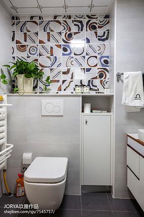 可爱北欧二居卫浴设计图片二居北欧极简家装装修案例效果图