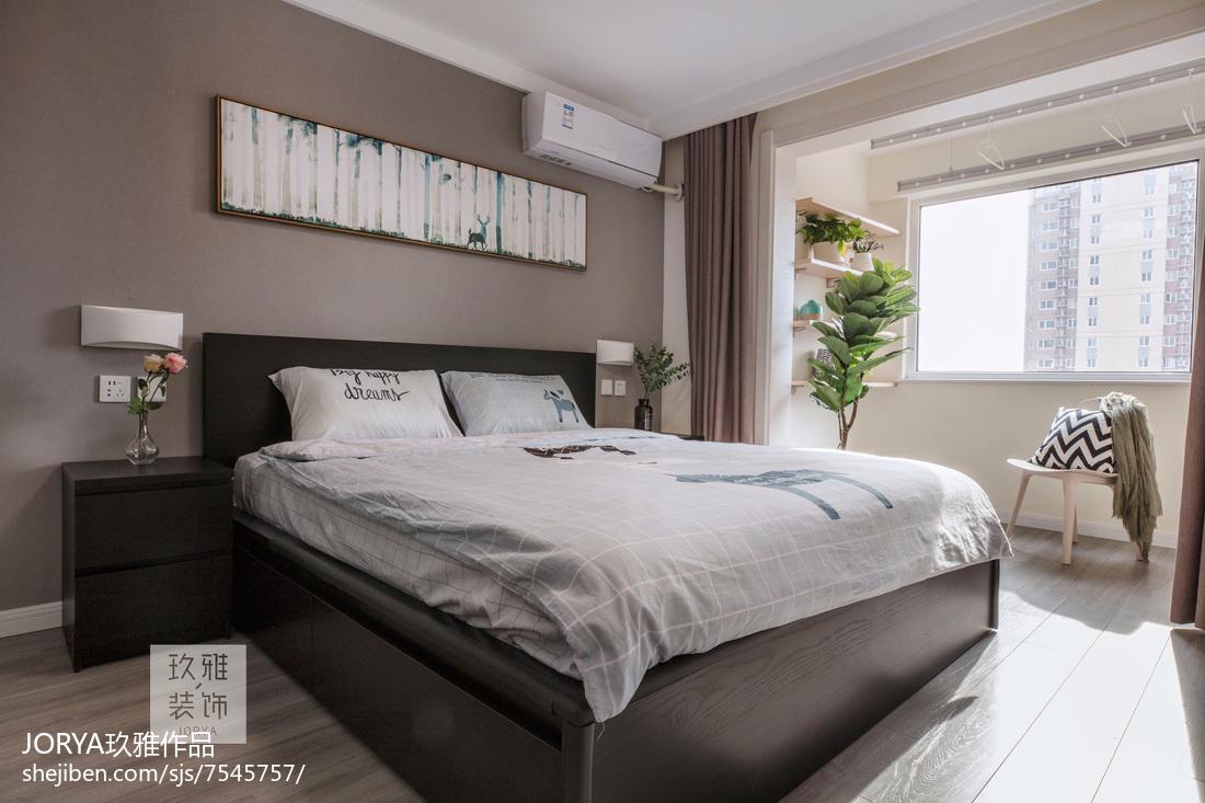 可爱北欧二居主卧设计图卧室北欧极简卧室设计图片赏析