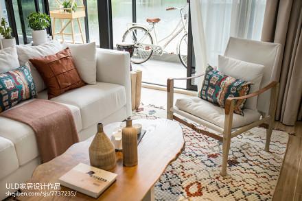 悠雅106平混搭样板间客厅实景图样板间潮流混搭家装装修案例效果图