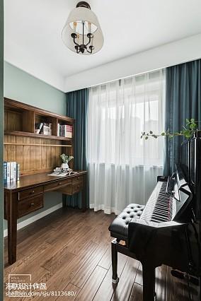 优美84平美式三居书房装修效果图