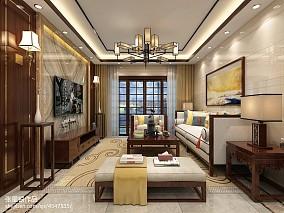 精美124平米四居客厅中式装修效果图片