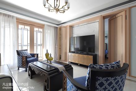 明亮127平中式三居装修图片