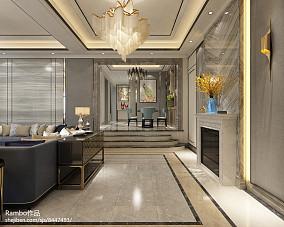 精选112平米美式别墅玄关装饰图