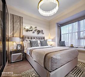 2018卧室简欧装修效果图样板间北欧极简家装装修案例效果图