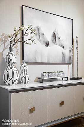 优雅298平简欧样板间卧室效果图样板间北欧极简家装装修案例效果图