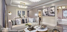 精选简欧客厅装修欣赏图样板间北欧极简家装装修案例效果图