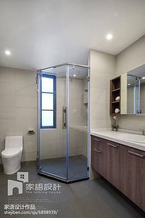 精选面积109平现代三居卫生间装修设计效果图