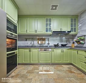 简洁110平美式四居厨房效果图片大全