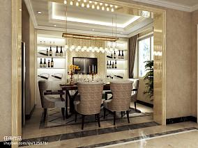 精美100平米三居餐厅欧式装修欣赏图