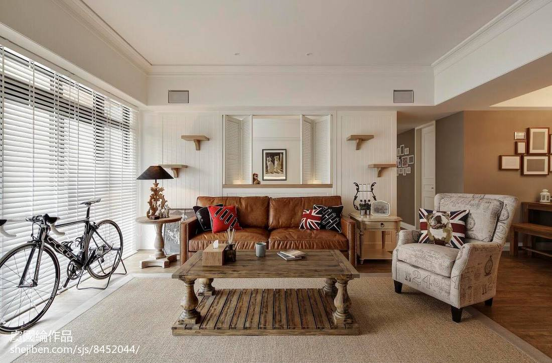 美式家装客厅沙发设计图客厅美式经典客厅设计图片赏析