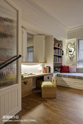 2018精选108平米三居儿童房美式装修设计效果图片大全