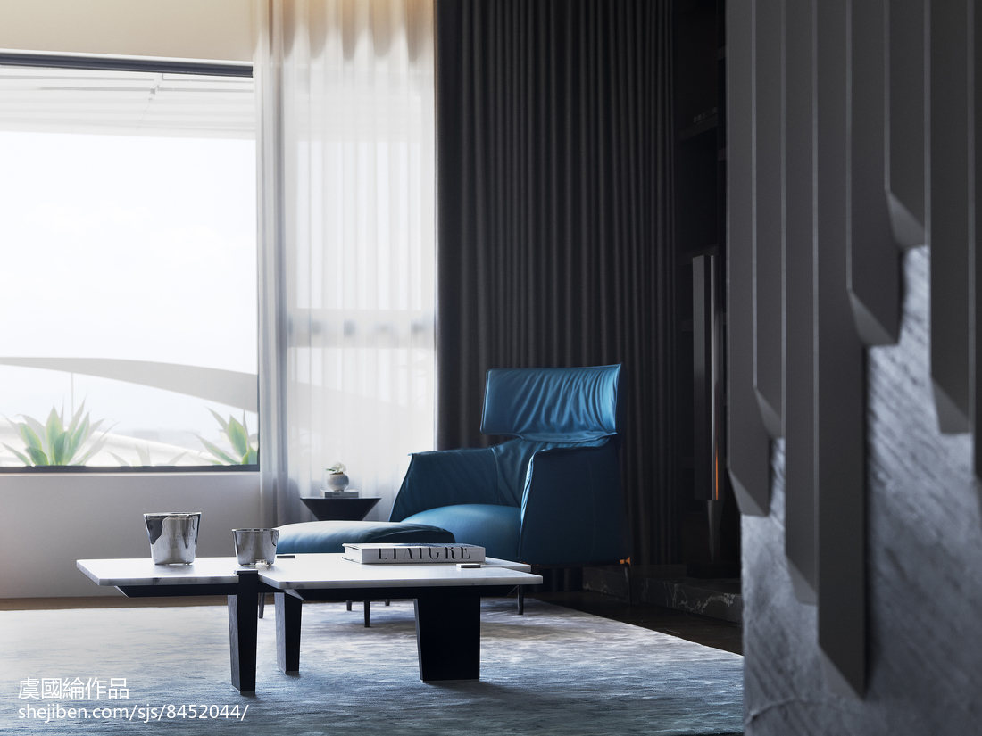精選126平米現代別墅客廳裝修實景圖功能區現代簡約功能區設計圖片賞析
