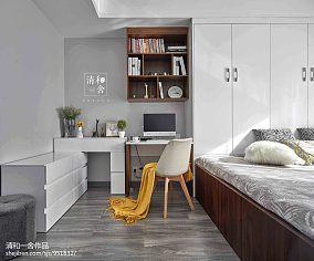 现代大卧室书桌设计图