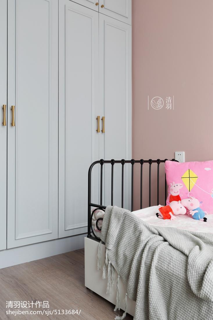 浪漫120平北欧四居儿童房效果图片大全卧室北欧极简卧室设计图片赏析