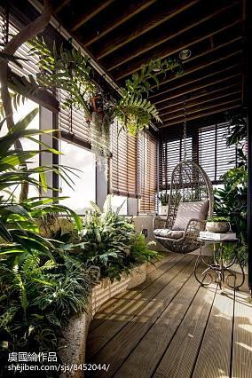 精美337平现代别墅阳台设计效果图别墅豪宅现代简约家装装修案例效果图