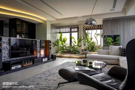 优美525平现代别墅实景图片