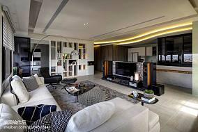 明亮516平现代别墅客厅设计美图别墅豪宅现代简约家装装修案例效果图