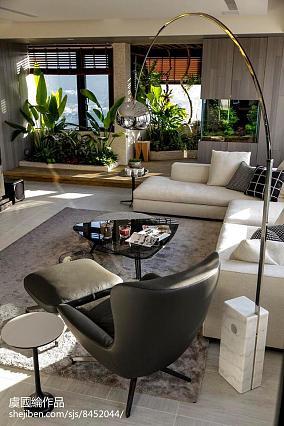 温馨881平现代别墅客厅装潢图别墅豪宅现代简约家装装修案例效果图