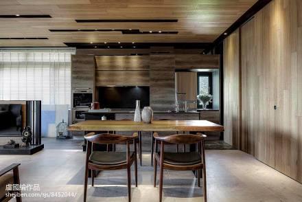 平米田园别墅餐厅装修实景图片欣赏厨房