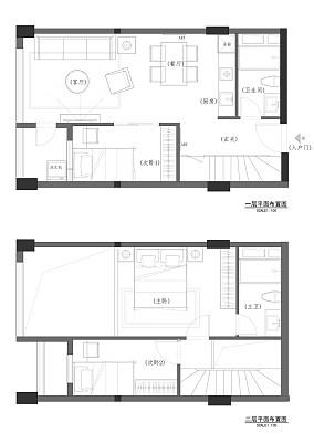 雅致70多平米的房子效果图