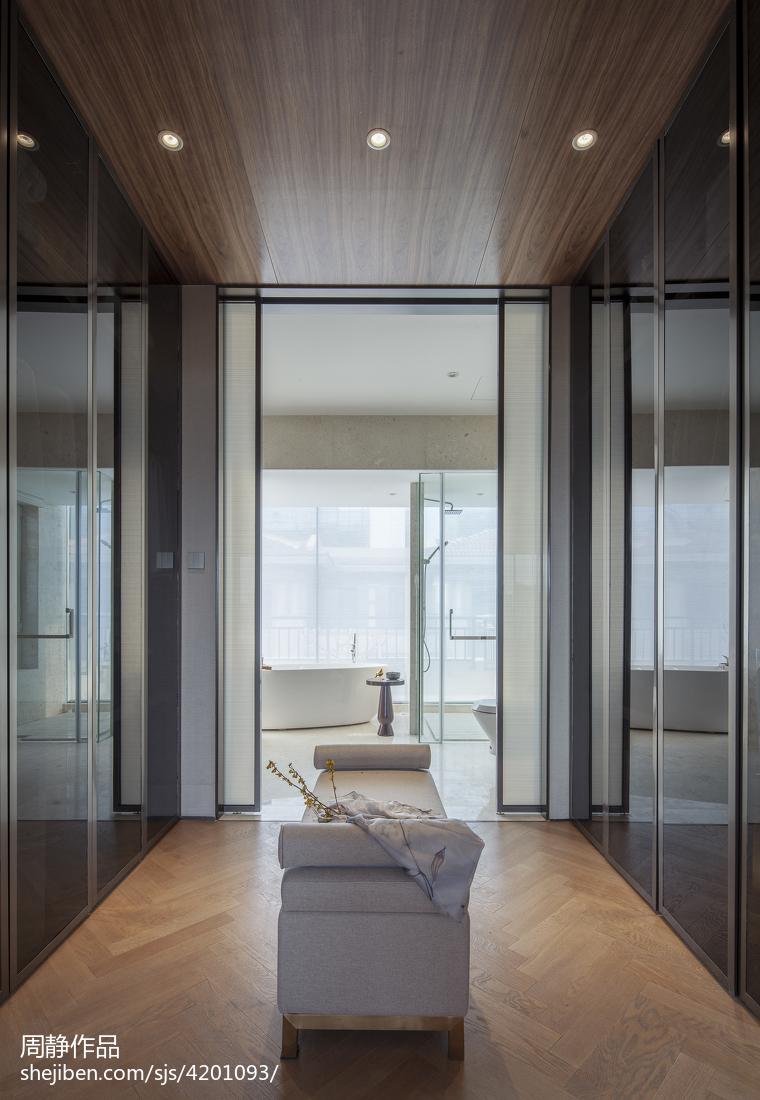 质朴739平中式别墅卫生间布置图卫生间中式现代卫生间设计图片赏析