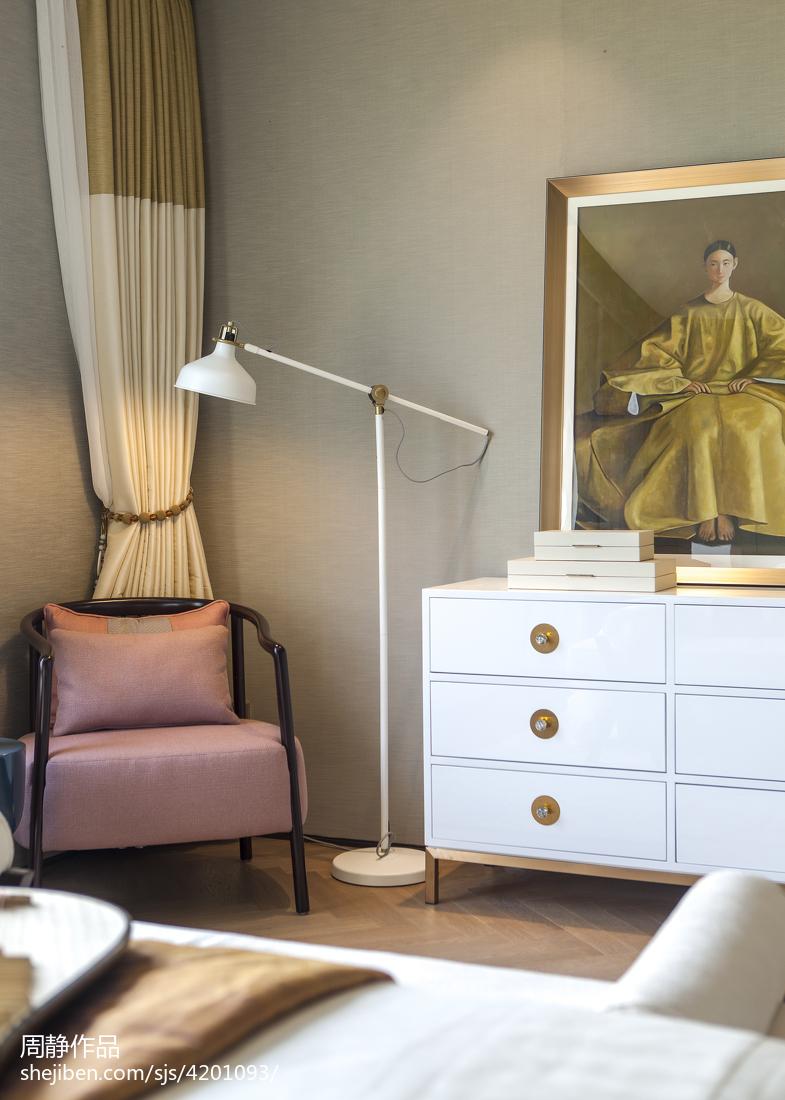 悠雅620平中式别墅卧室装饰美图卧室1图中式现代卧室设计图片赏析