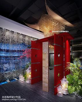 日式家装室内走廊窗户图片