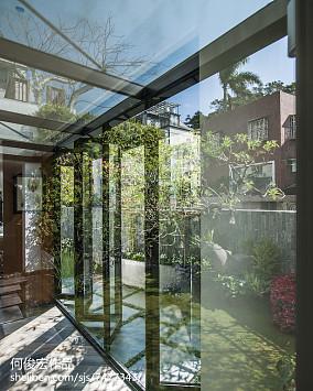 热门123平米现代别墅花园装修实景图片欣赏
