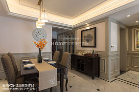 精选面积72平美式二居餐厅效果图片二居美式经典家装装修案例效果图