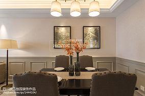 热门面积76平美式二居餐厅装修图二居美式经典家装装修案例效果图