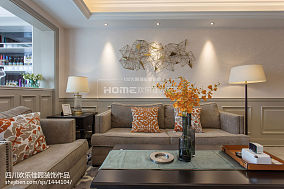 精美面积70平美式二居客厅效果图二居美式经典家装装修案例效果图