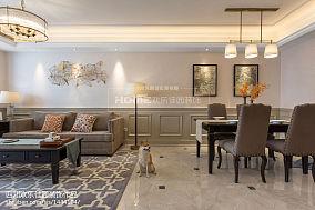 2018精选大小75平美式二居客厅装修图二居美式经典家装装修案例效果图