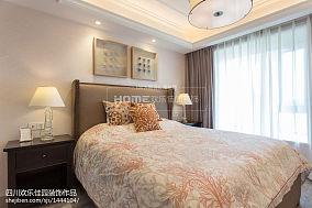 2018精选面积78平美式二居卧室装修欣赏图片二居美式经典家装装修案例效果图
