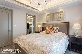 精选78平米二居卧室美式装饰图片大全二居美式经典家装装修案例效果图