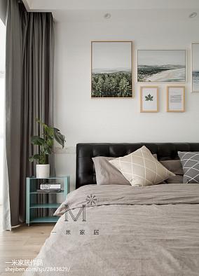 温馨123平北欧三居卧室装修效果图三居北欧极简家装装修案例效果图