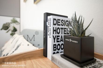 华丽89平北欧三居卧室装修设计图