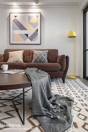 质朴113平北欧三居客厅效果图三居北欧极简家装装修案例效果图